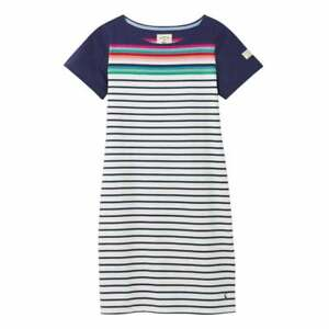Joules-Riviera-Short-Sleeve-Jersey-Dress-Blue-Border-Stripe