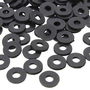 100PCS-Black-Flat-Ring-Nylon-Washer-Gaskets-for-M3-Screws-OD-8mm-ID-3mm-T-1mm