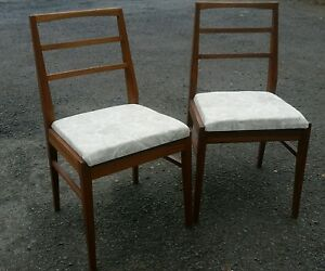 details about a pair of teak danish style retro chairs