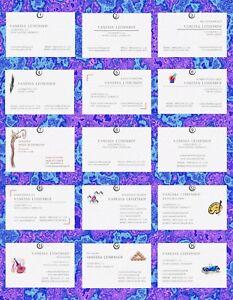 Details Zu 50 Hochwertige Visitenkarten Auswahl Auf Edelkarton Elfenbein Leinenprägung
