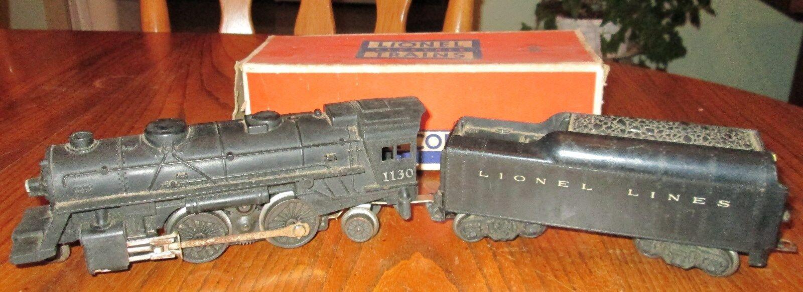 Vintage lionel lokomotive 1130 und kohle auto original box 027