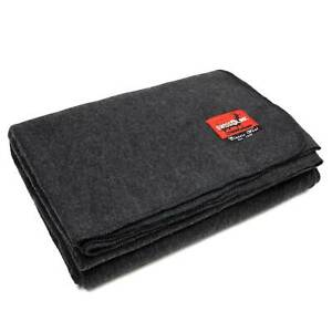 New Charcoal Grey Wool Blanket 80 Wool 64 Quot X 90