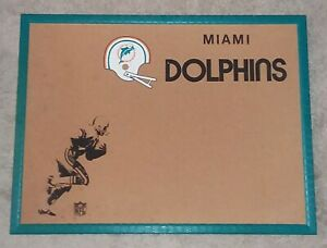 MIAMI-DOLPHINS-NFL-Cork-Board-Football-1970-039-s-Vintage-and-Very-Clean-RARE