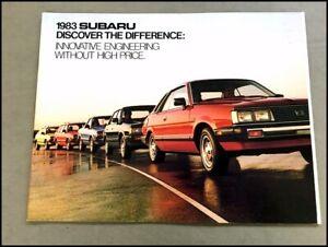 1983-Subaru-28-page-Original-Car-Sales-Brochure-Catalog-Brat-4wd-Station-Wagon