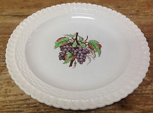 2256 Spode Copeland 1 Déjeuner Assiette Violet Raisins Osier Vannerie Angleterre 2agq2nij-07222711-798270727