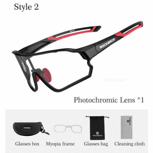 ROCKBROS Polarized Cycling Sunglasses Goggles Sports Photochromatic Glasses