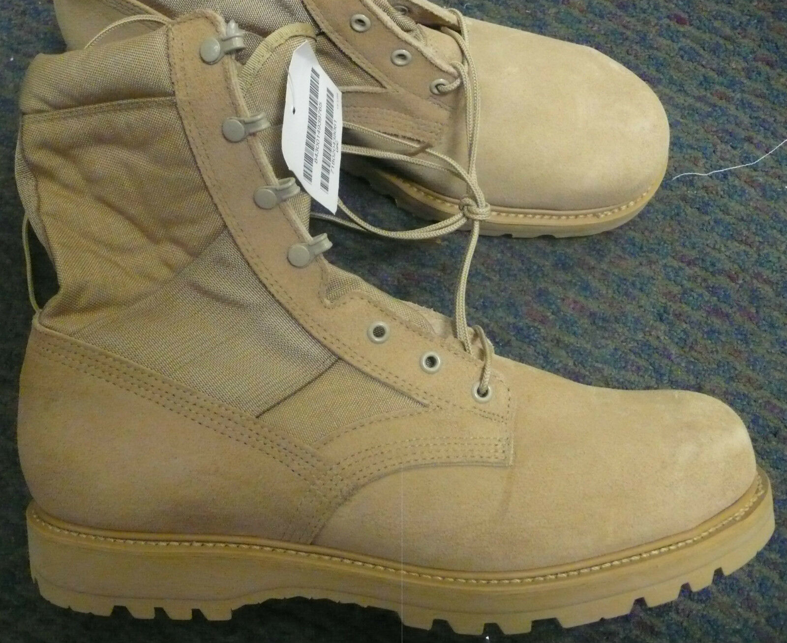 US Army Thorogood Desert Tan Hot Weather piloto Puntera De Acero Botas piloto Weather vuelo 6413c5