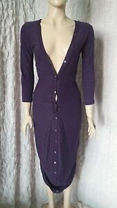 McQ-by-Alexander-Mcqueen-100-cotton-purple-striped-fitted-asymmetrical-dress