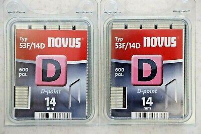 2x 600 Tackerklammern Novus Typ D 53F//10 Flachdraht 10 x 11,3 mm # 042-0376