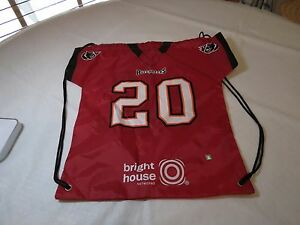 Ronde Barber  20 bookbag sling bag Backpack Jersey shirt Tampa Bay ... fb533a145