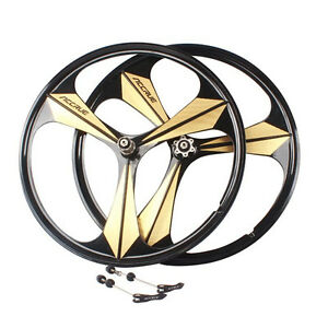 700c Road Bike 3 Spoke Mag Wheels Wheelset Set Rims Disc Brake 8 9