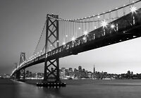 Wall Mural Photo Wallpaper 3.66m X 2.54m San Francisco Oakland Bay Bridge Decor