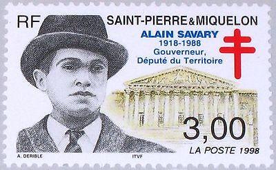 Pierre Miquelon Spm 1998 745 659 Alain Savary Governor Territorial Deputy ** Gute Begleiter FüR Kinder Sowie Erwachsene St Briefmarken
