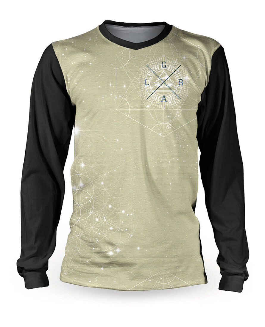 Loose Riders Uomo Kosmic Dust del Jersey uomoica Lunga. sportwear, bicicletta, CICLISMO stile