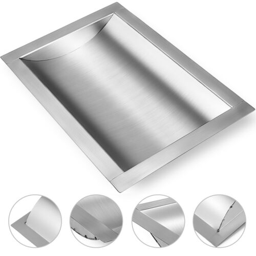 """d w Brushed Finish x 10/"""" 16/"""" Stainless Steel Drop-In Deal Tray"""