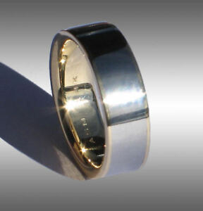 449e9b384825b Details about CUSTOM MADE REAL GIBEON METEORITE RING WEDDING BAND #091 IN  14 YELLOW GOLD!
