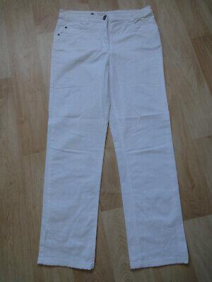 Canda Comfort Fit Donna Jeans Stretch Pantaloni Taglia 38 Bianco Corto Pantaloni Jeans- Elevato Standard Di Qualità E Igiene
