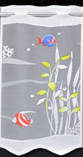 Fische Scheibengardine Kindergardine 7 Breiten Bistro Badezimmergardine Korallen
