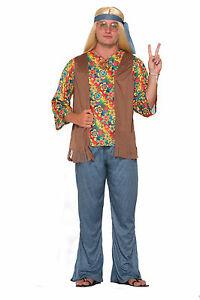 Hippie Peace Adult Vest Unisex Rasta Groovy 60s 70s Halloween