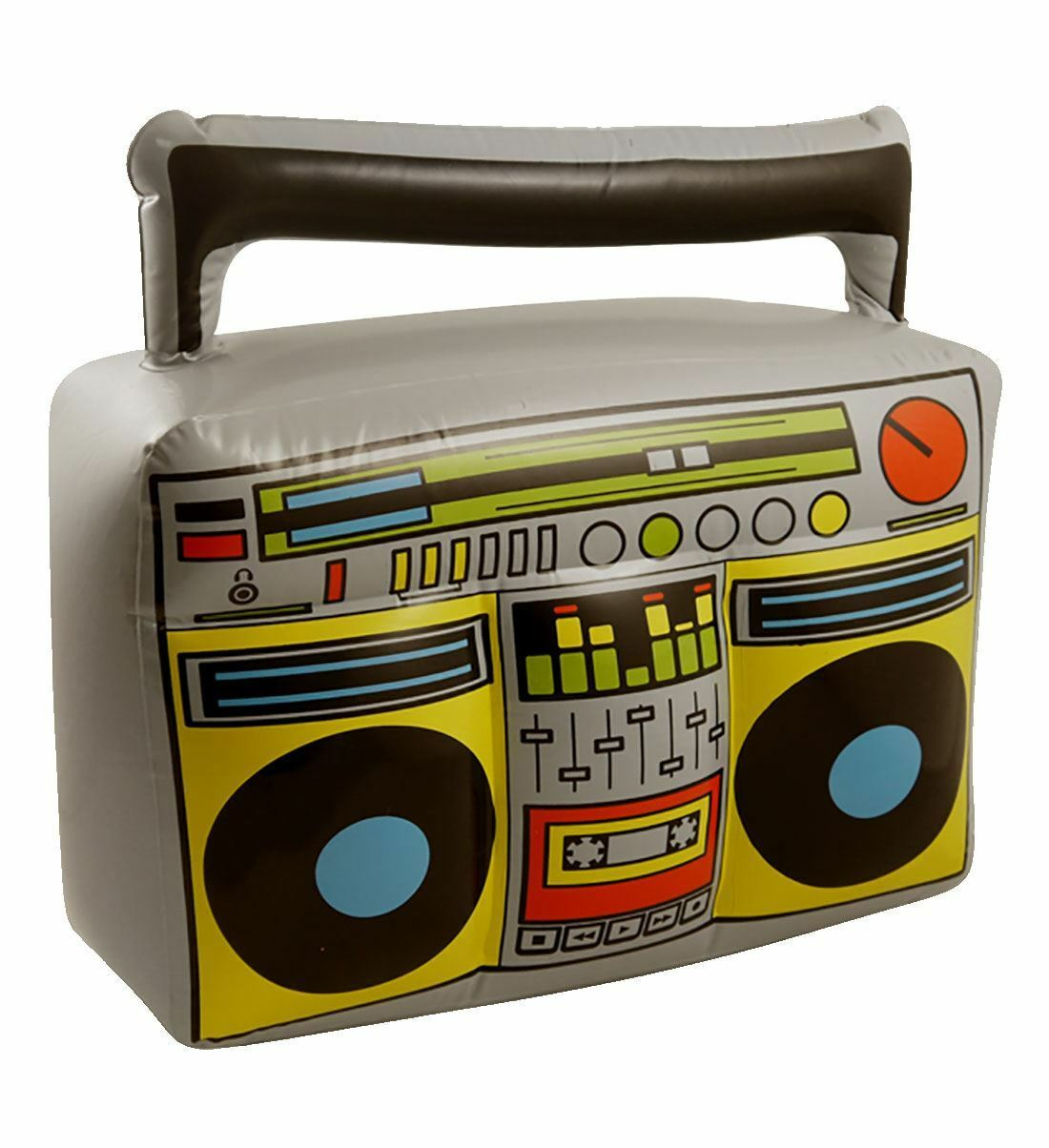 Inflatable Boom Box Blow Up Music Player Ghetto Blaster Fancy Dress Accessory