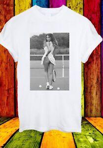 Sexy-TENNISTA-inferiore-come-su-Corte-Uomini-Donne-Unisex-T-shirt-2745