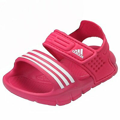 adidas Akwah Infant Girls Sandals Hook And Loop Straps Beach Shoes Pink Sizes