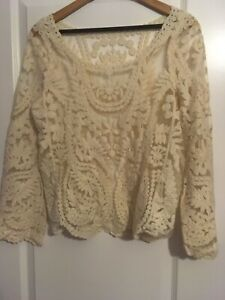 Apricot-Woman-s-Top-Size-10-12-Yellow-Long-Sleeve-New