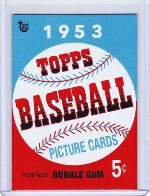 2018 TOPPS 80TH ANNIVERSARY 1953 BASEBALL WRAPPER ART /> TOPPS LIVING SET
