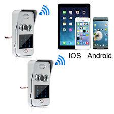 2Kit Wireless Wifi/IP Doorphone Video Unlock Camera Phone Intercom Doorbell New