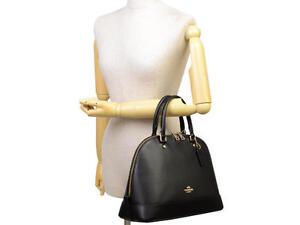 Coach-Bag-F37218-Sierra-Satchel-in-Crossgrain-Leather-Black-Agsbeagle-COD