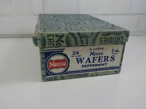 Vintage-Empty-Box-of-Necco-Wafers-Peppermint-24-Advertisement-Box