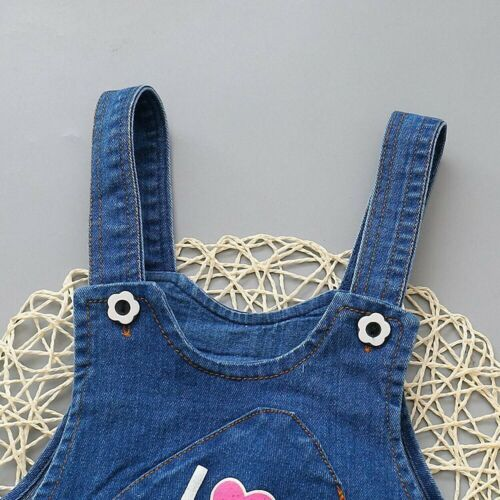 Toddler Baby Girls Denim Overalls Kids Clothing Casual Jumpsuits Bib Jeans Pants