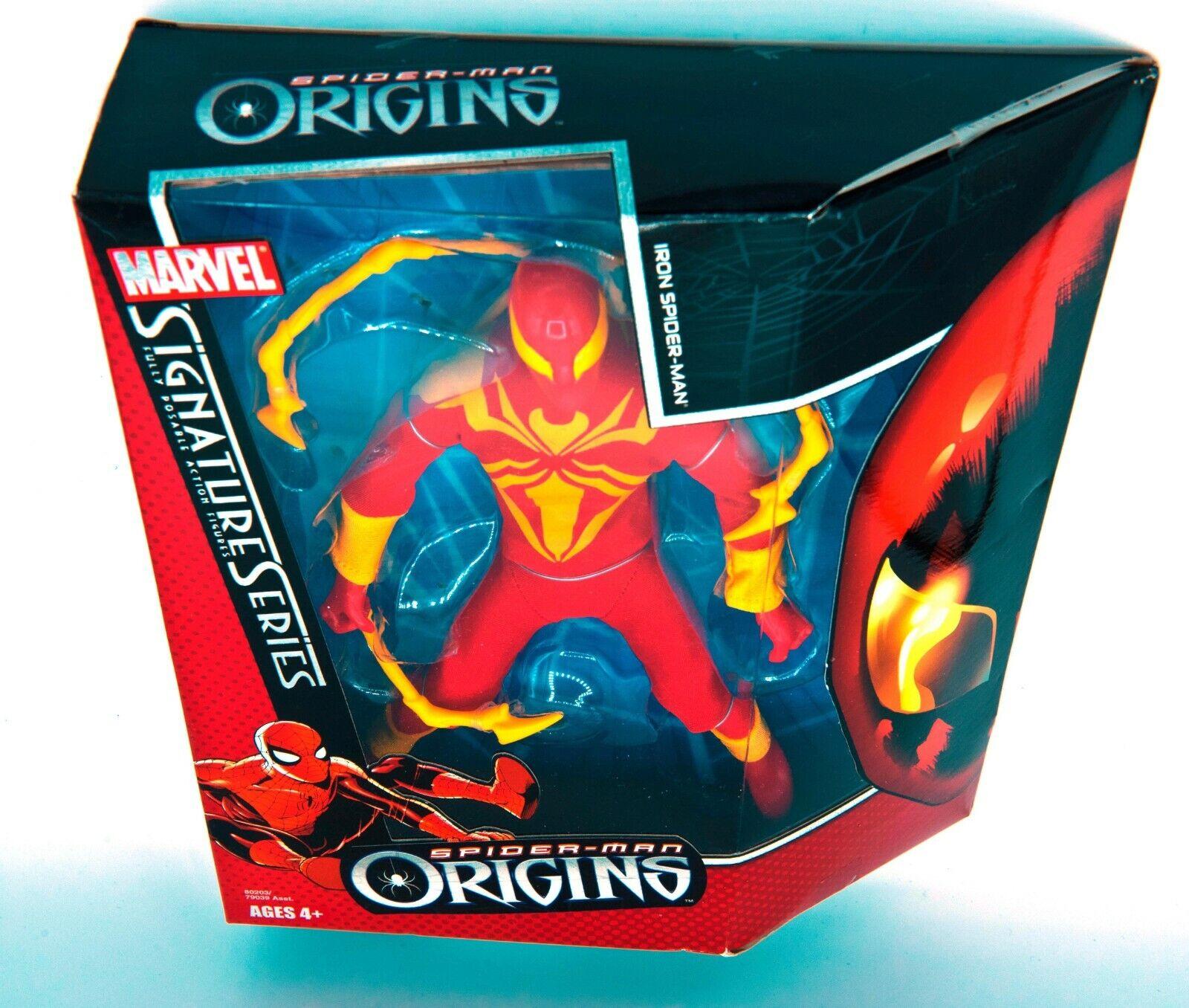 Hasbro Marvel Signature  Series Origines Acier Spiderhomme 10   Action Figurine  le réseau le plus bas