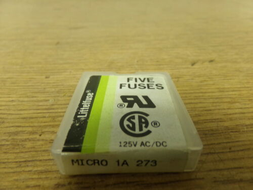 Pack of 5 *FREE SHIPPING* NEW  Littelfuse Micro 1A 273 Fuses