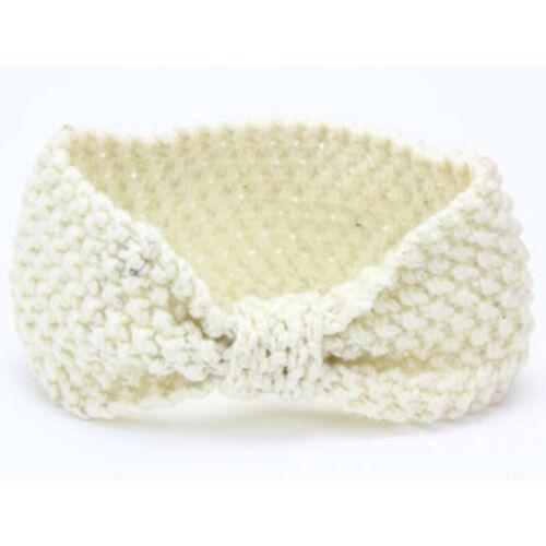Cute Girls Baby Kids Toddler Headband Crochet Bow Hair Band Accessories Winter