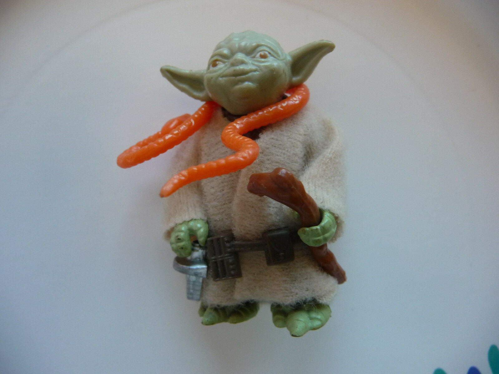 Vintage Star Wars ESB 1980 YODA with with YODA CLOAK, BELT, SNAKE, & CANE, EXCELLENT 842673