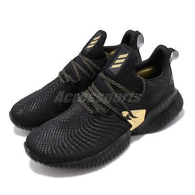 adidas Alphabounce Instinct M Black Gold Mens Running Shoes Bounce EF0867