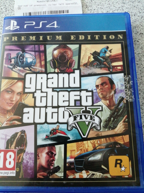 Grand theft auto five premium edition, PS4, action, Som…