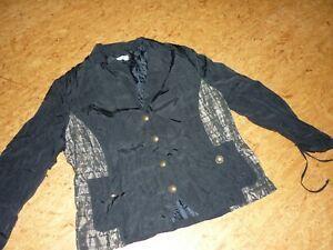 BONITA-Jacke-festlich-schwarz-mit-Bronze-Gr-44-46-Business-tauglich