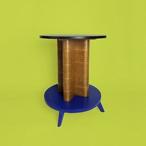 Gueridon-annees-30-Art-Deco-Moderniste-side-Table-Bois-Sellette-Wood-Bois