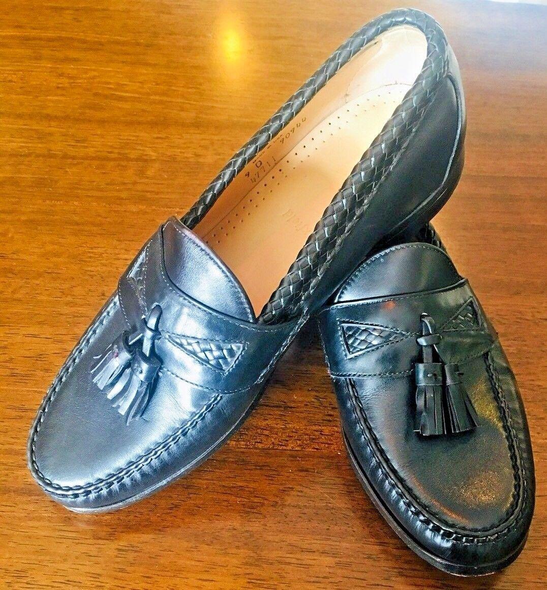 ALLEN EDMONDS MAXFIELD BLACK Leder Leder BLACK Slip On Tassels Weave DRESS Loafers 9D #189 e1909a
