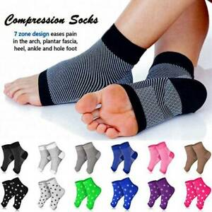 Plantar-Fasciitis-Compression-Socks-Arch-Ankle-Running-Support-For-Mens-Women-OB