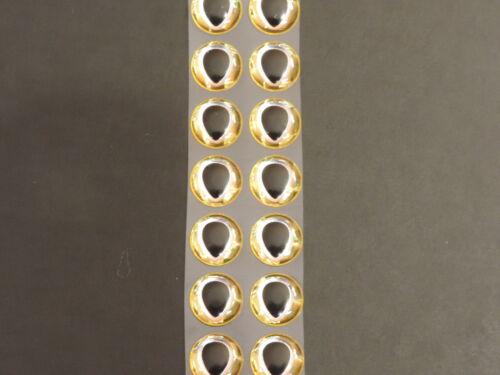 """14 Larme Argent Or 3D Soft moulé 12 mm .472 /""""Adhésif Yeux fly tying lures"""