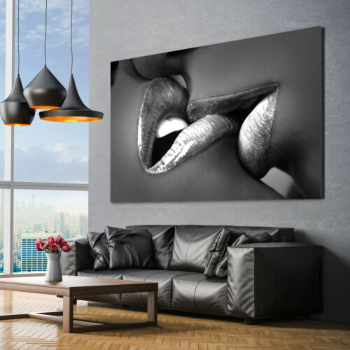 show original title Details about  /Canvas PICTURES XXL Sweet Lips Erotic Nude Abstract Pictures Wall Picture Art Print