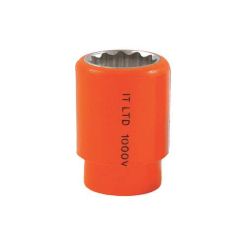 "12 Pt. JAMESON//ITL 01725 Insulated Socket,3//8/"" Dr,1//2/"""