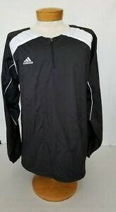 Adidas-Mens-Windbreaker-Pullover-Jacket-Clima365-Logo-Zip-Drawcord-Hem-Size-L