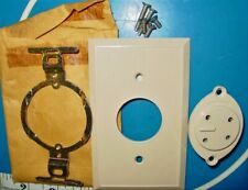 NEW VINTAGE WESTERN ELECTRIC 550-A-50 JACK IVORY, FACEPLATE & BRACKET. 4 PRONG