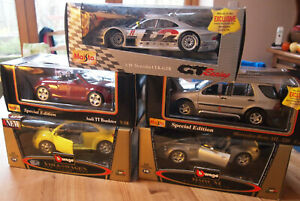 MAISTO-BURAGO-1-18-TOY-MODEL-CARS-BOXED-UNUSED-MADE-IN-ITALY-SELECT