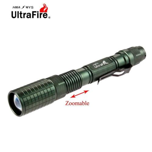 Ultrafire Zoomable X-XML T6 20000 LM LED Flashlight 18650 Battery Torch  #L