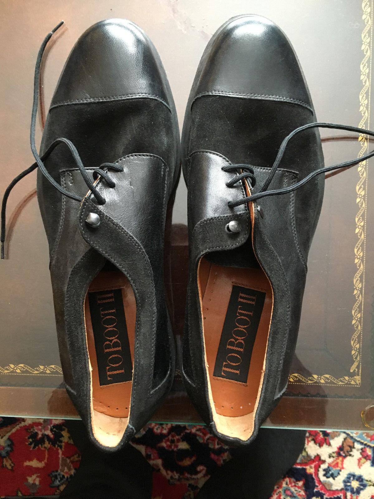 To bota Cuero Y Gamuza Nuevos Zapatos para hombre Talla 10 ver medidas